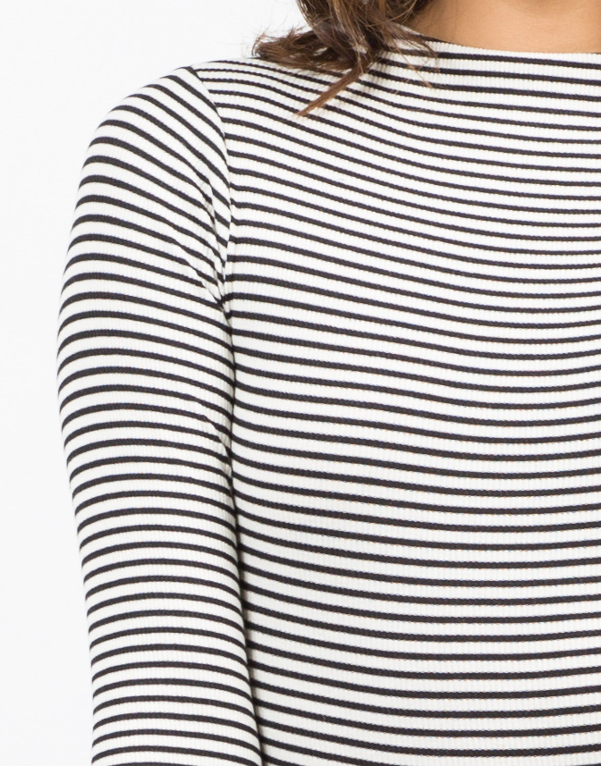 Detail of Stripe Ribbed Bodsyuit