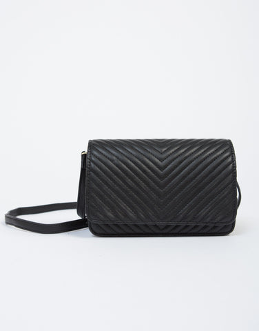 Structured Chevron Crossbody Purse