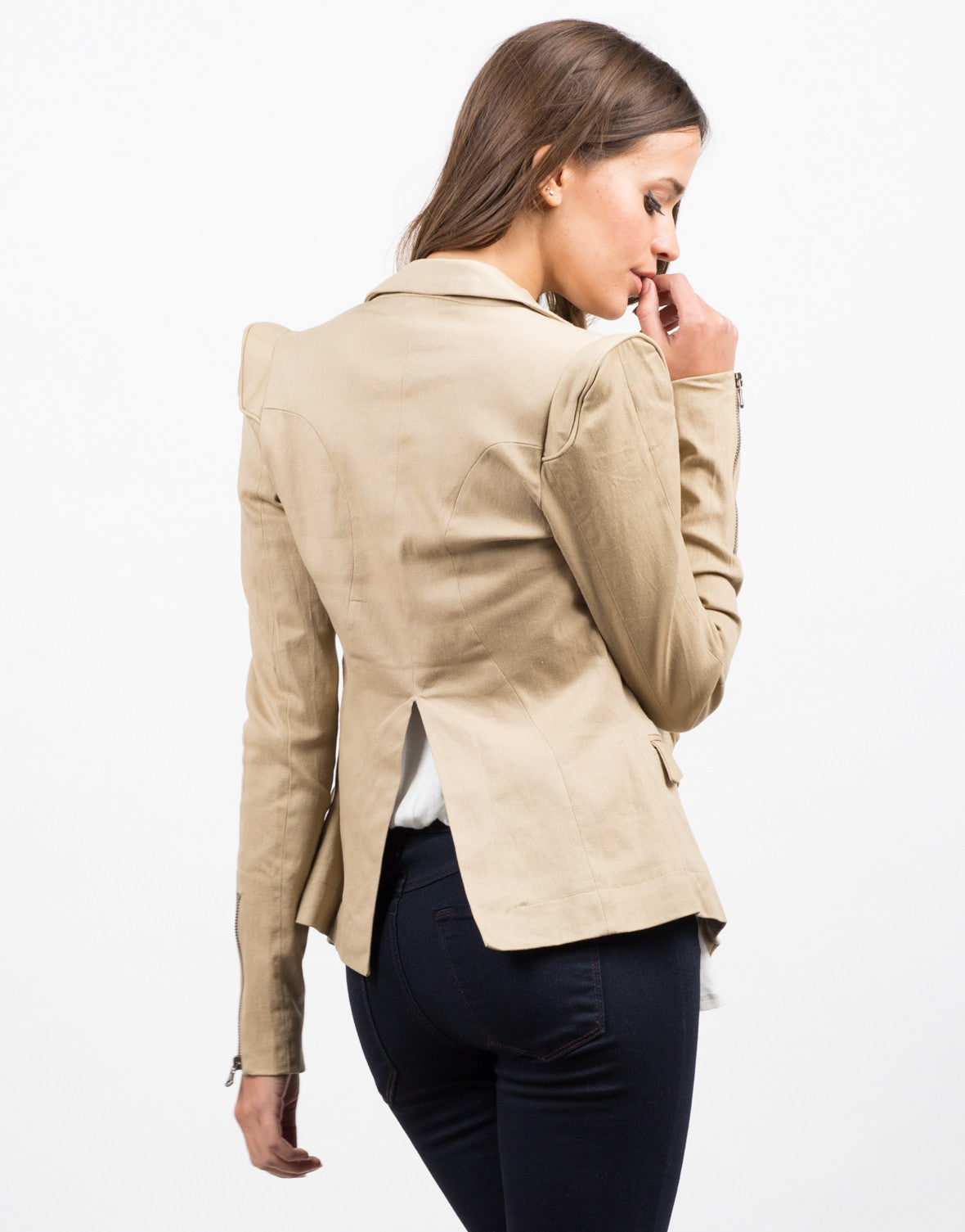Back View of Structured Blazer