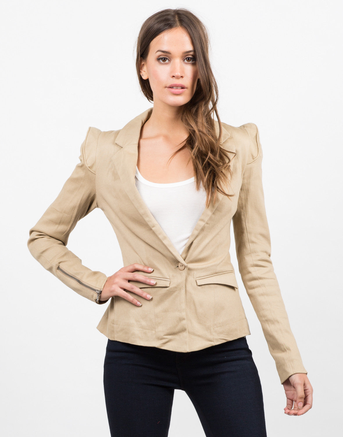 Front View of Structured Blazer