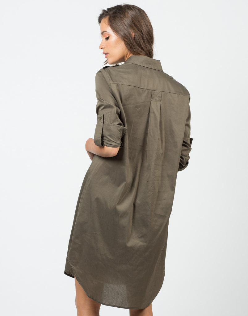Structured Oversized Shirt Dress - 2020AVE