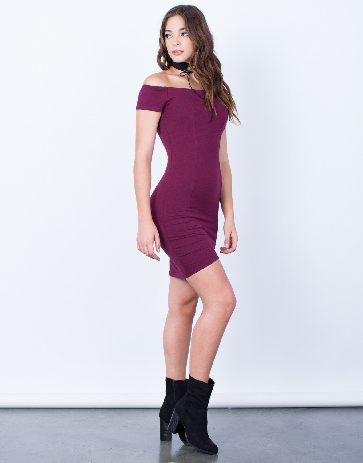 Side View of Strut Your Stuff Bodycon Dress