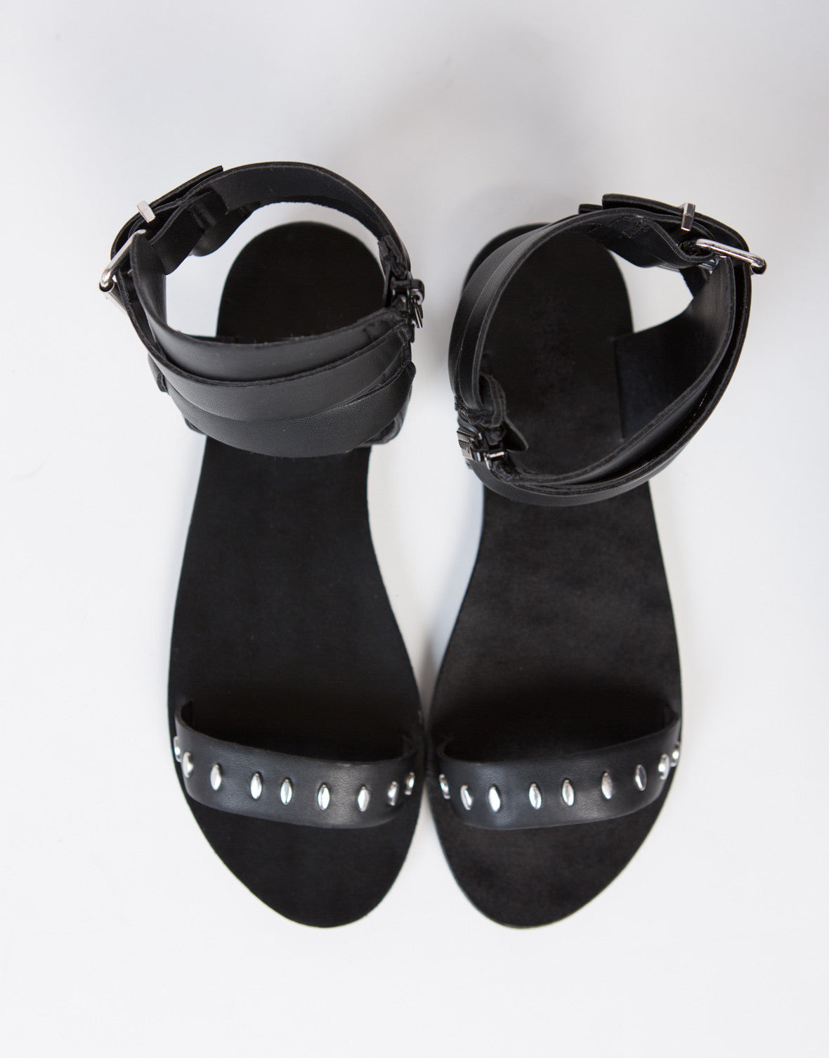 Studded Buckle Sandals