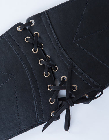 Suede Lace-Up Belt