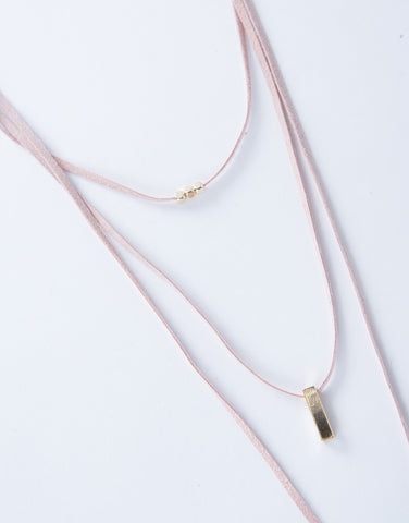 Suede Layered Choker Necklace