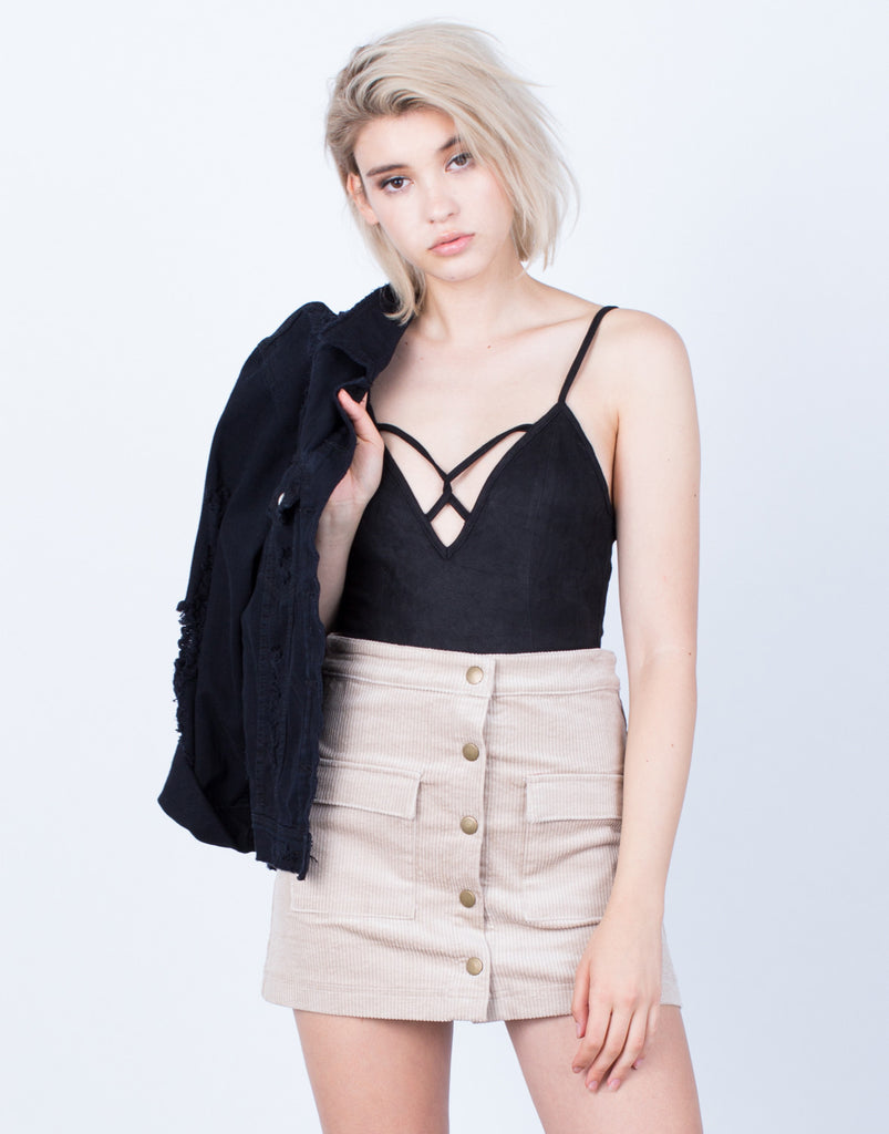 Suede Me Up Bodysuit - 2020AVE