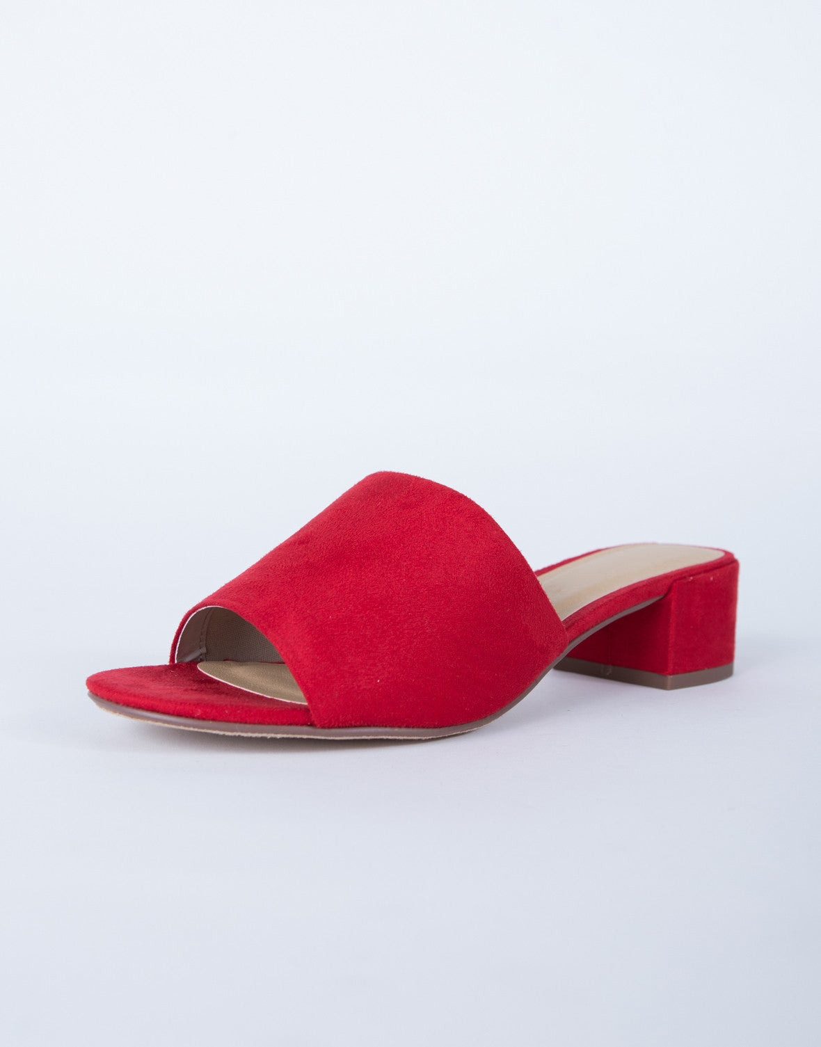 running shoes cost charm pretty cool Suede Mule Sandals - Faux Suede Mules - Red Mule Sandals - Black ...
