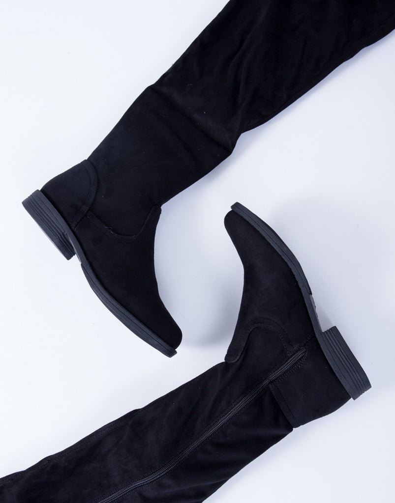 Suede Over-the-Knee Boots - 2020AVE