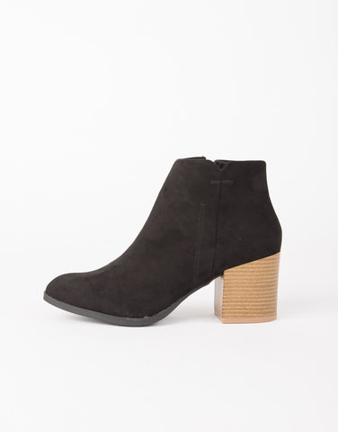 Suede Stitched Booties - 2020AVE