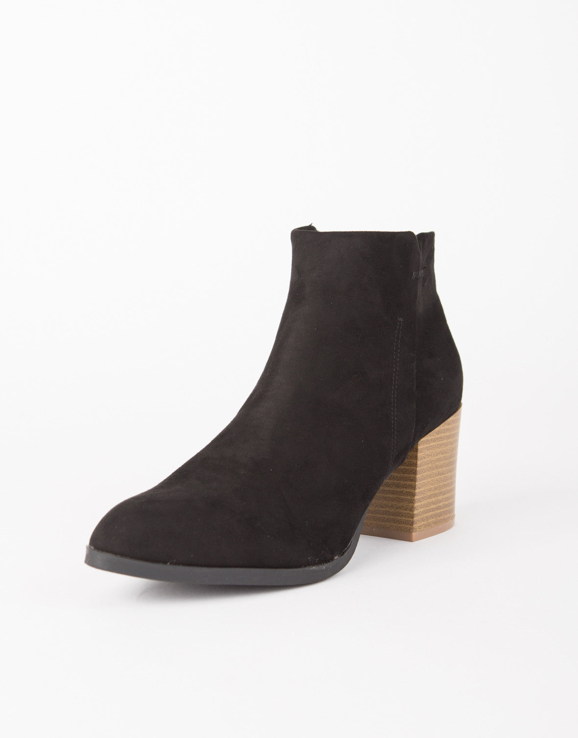 Suede Stitched Booties