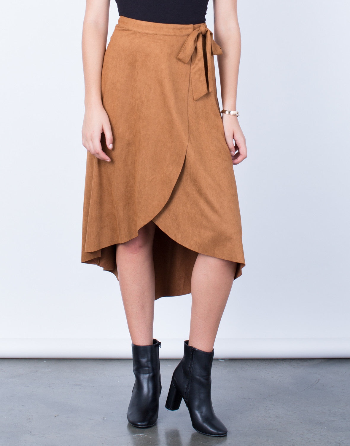 Suede Wrap Skirt - 2020AVE