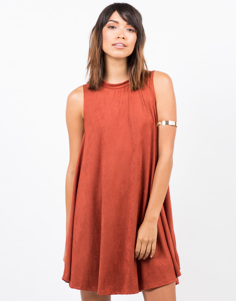 Suede A-Line Dress - 2020AVE