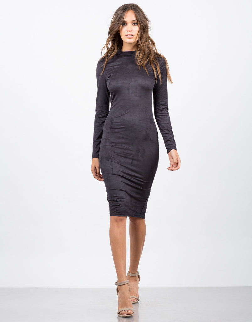 Suede Bodycon Dress - 2020AVE