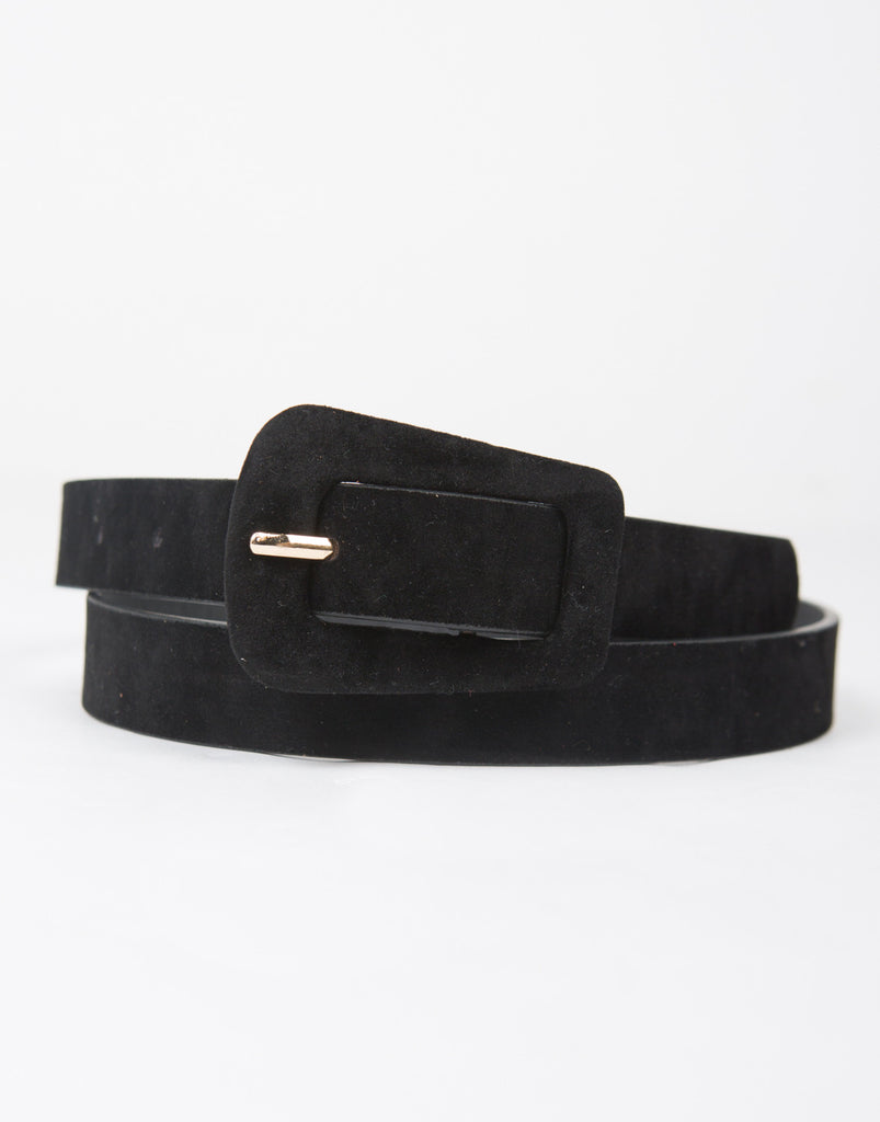 Suede Buckle Belt - 2020AVE