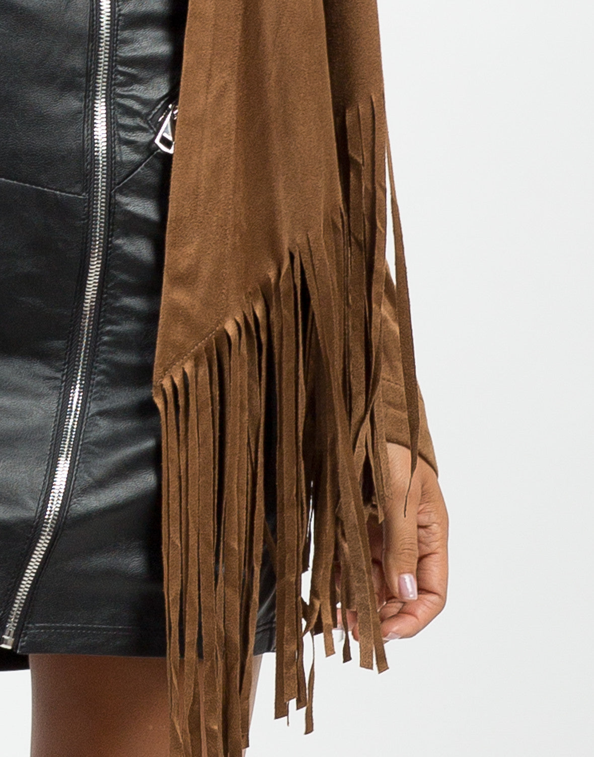 Detail of Suede Fringed Jacket