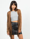 Front View of Suede Fringed Jacket