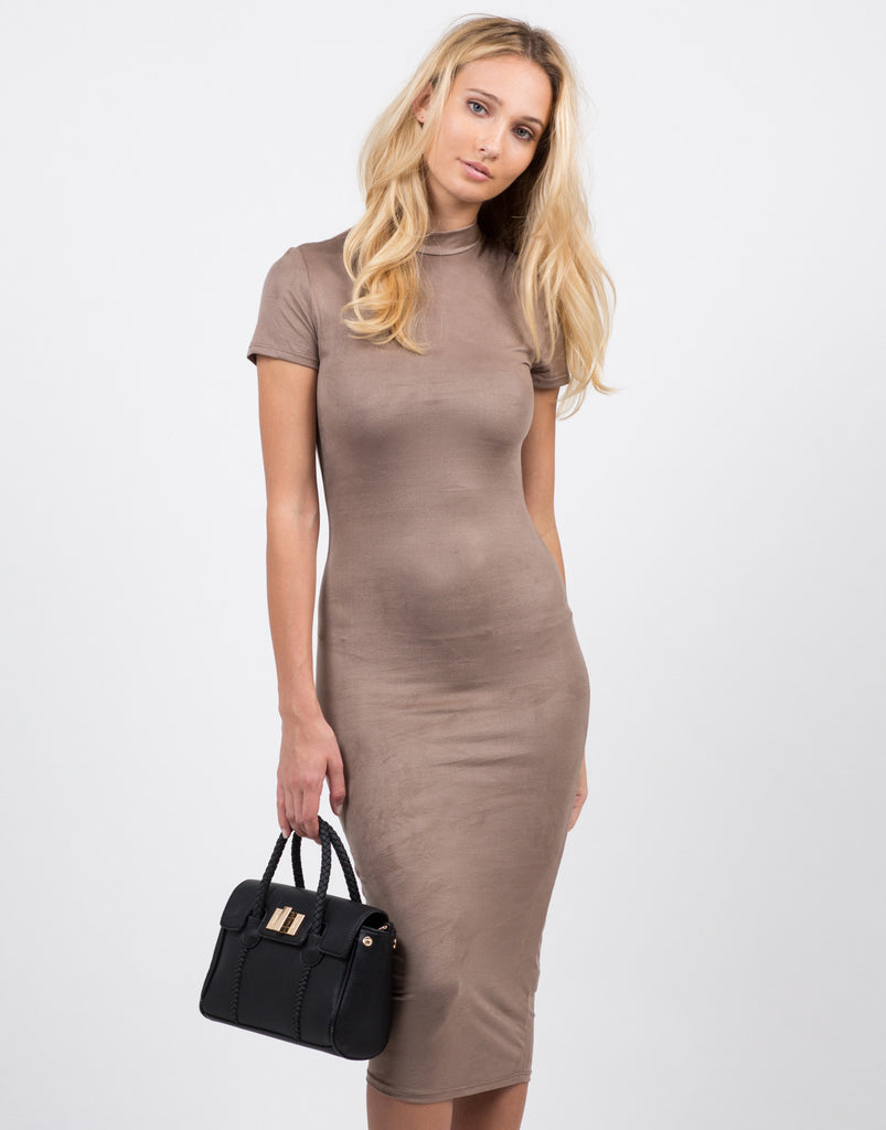 Suede Midi Dress - 2020AVE