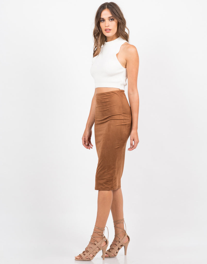 Suede Midi Skirt - 2020AVE