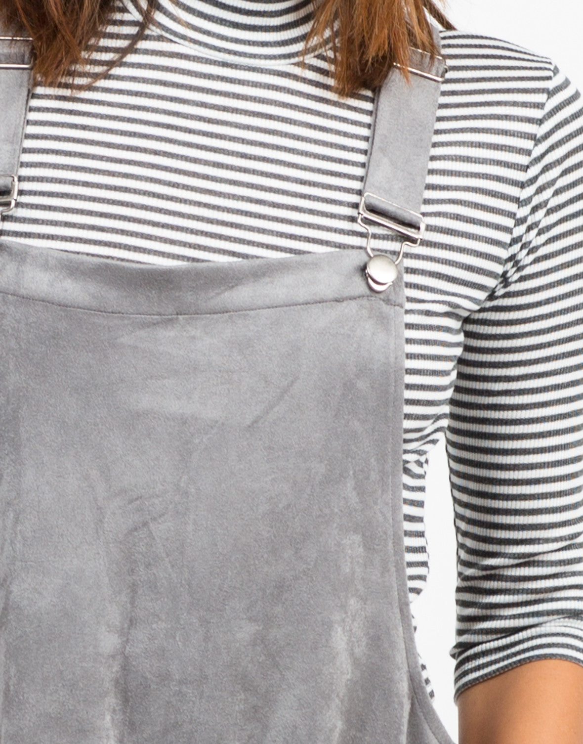 Detail of Suede Overalls
