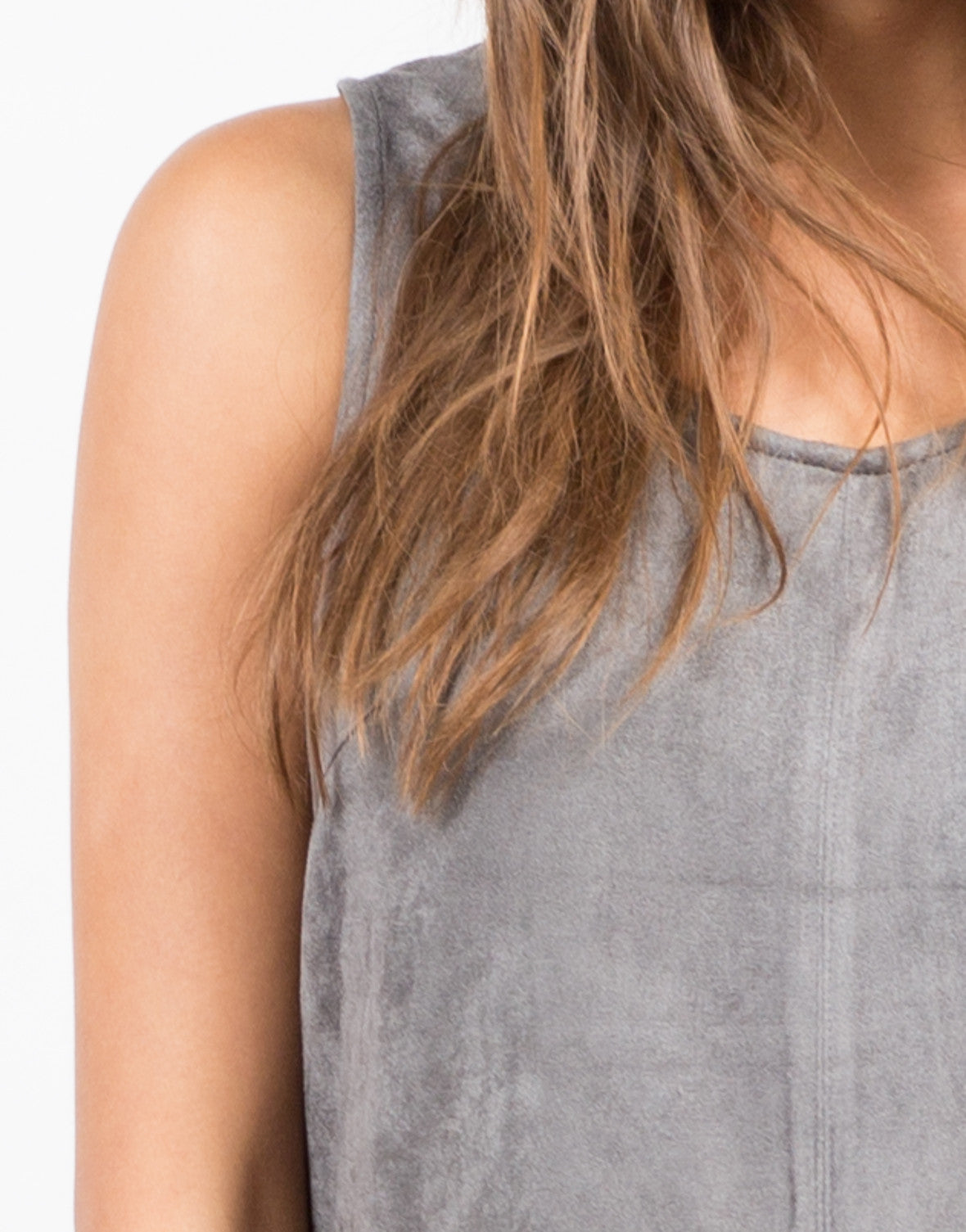 Detail of Suede Shift Dress