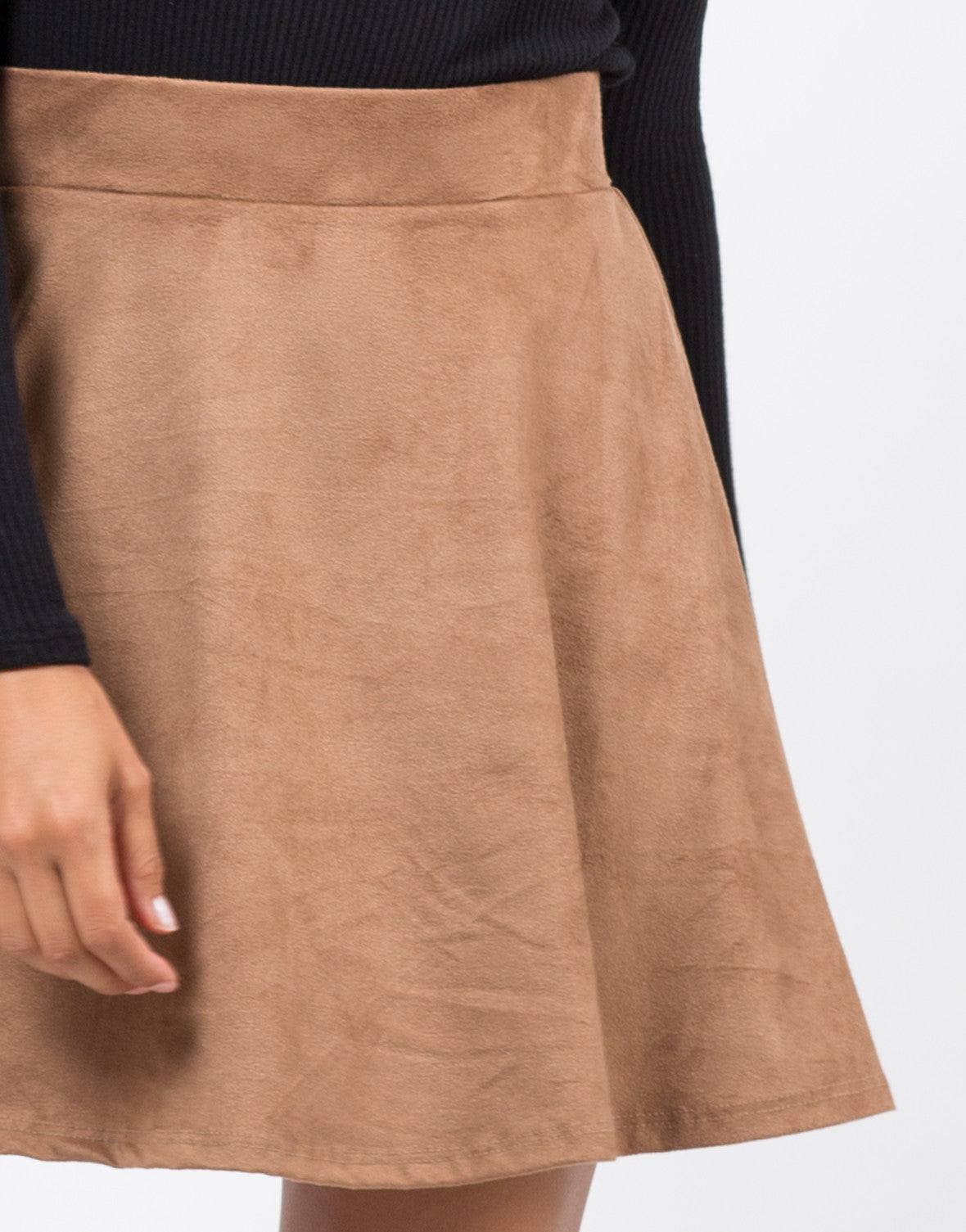 Detail of Suede Skater Skirt