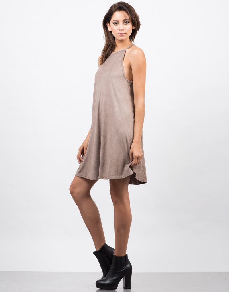 Suede Swing Dress - 2020AVE
