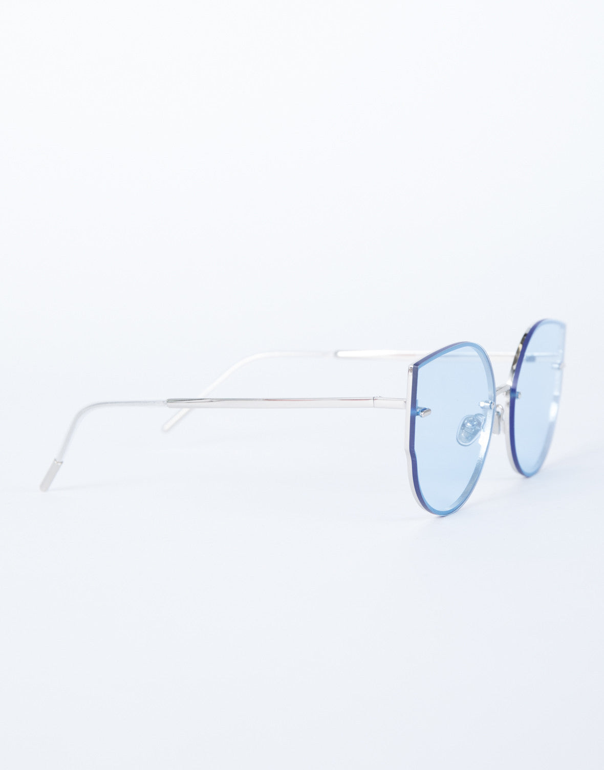 Blue Summer Fun Sunnies - Side View