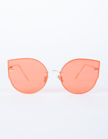 Orange Summer Livin' Sunnies - Front View