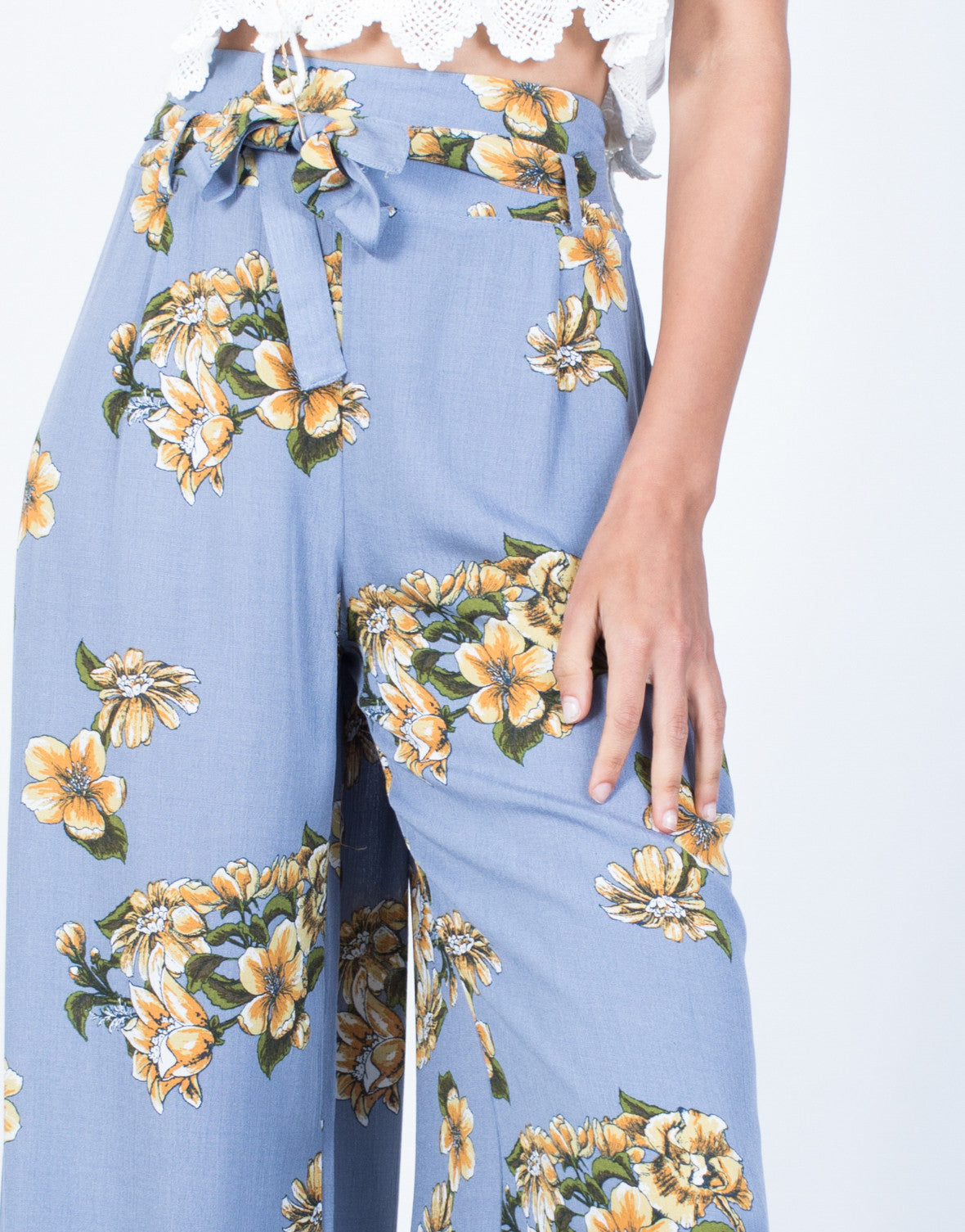 Detail of Sun Garden Floral Pants
