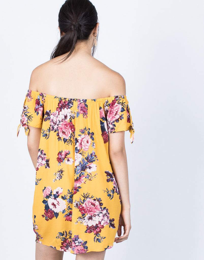 Back View of Sun-kissed Floral Dress