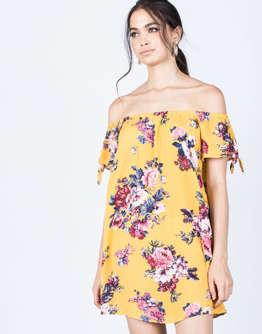 Front View of Sun-kissed Floral Dress