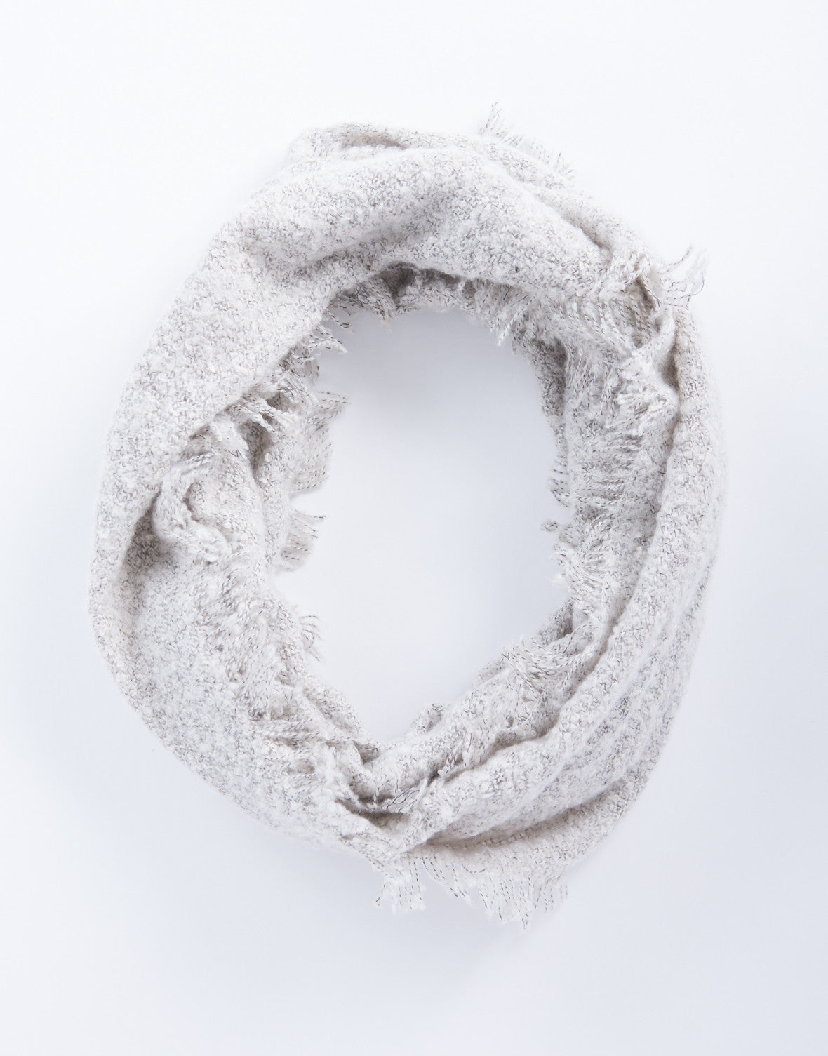 Super Cozy Infinity Scarf - Light Gray Infinity Scarf - Soft Fuzzy ...