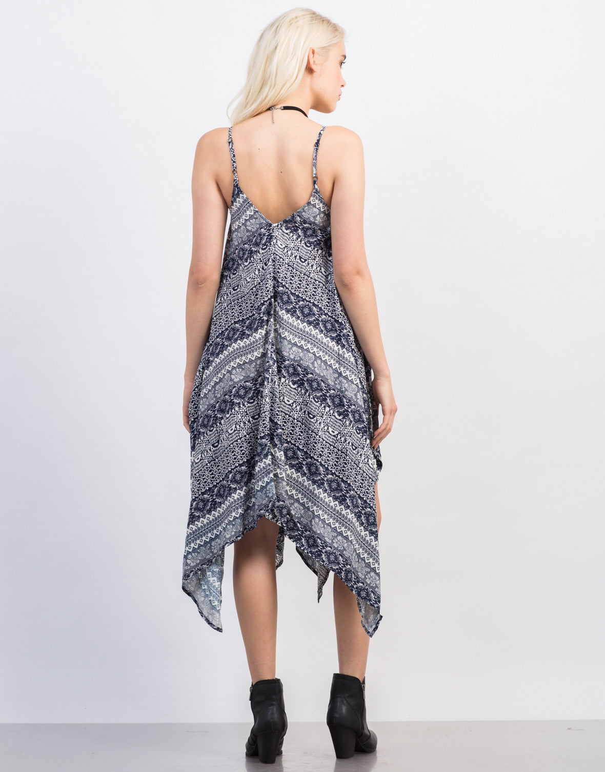 Back View of Super Flowy Printed Dress
