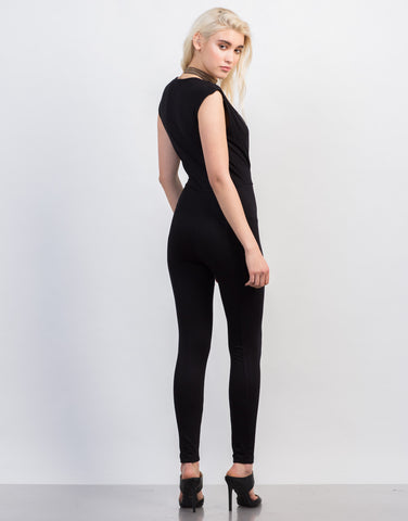Back View of Super Plunging Jumpsuit