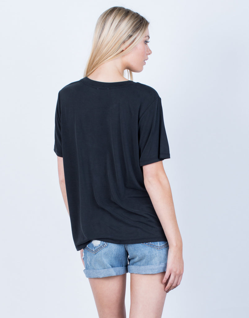 Back View of Super Soft Basic Tee