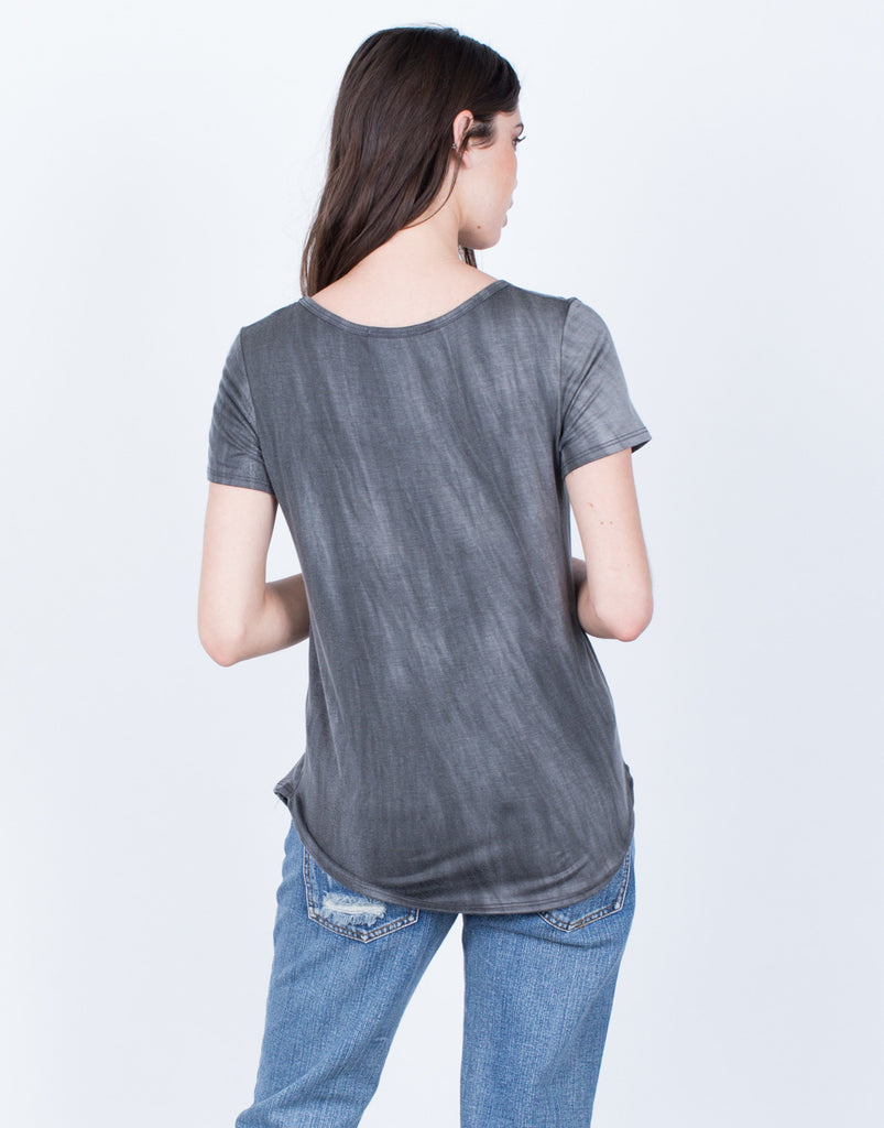 Back View of Super Soft Casual Tee