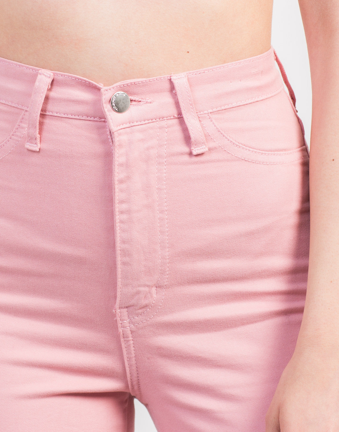 Detail of Super Soft High Waisted Pants