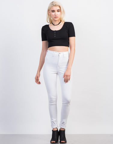 Front View of Super Soft High Waisted Pants