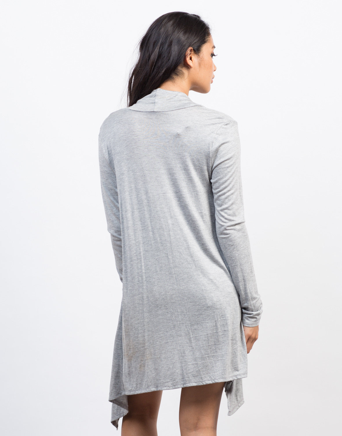 Back View of Super Soft Light Cardigan