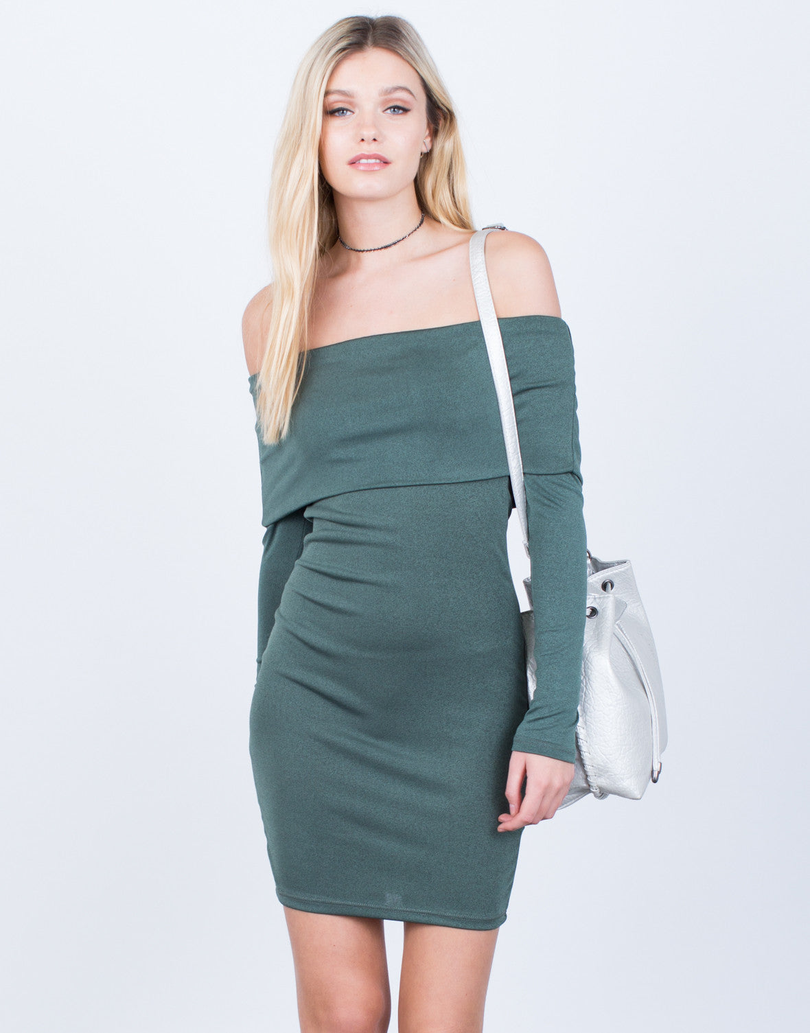 Super Soft Off-the-Shoulder Dress