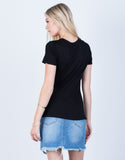Back View of Super Soft Relaxed Tee