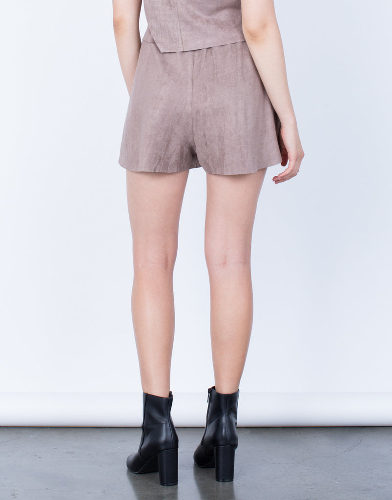Super Soft Suede Shorts - 2020AVE