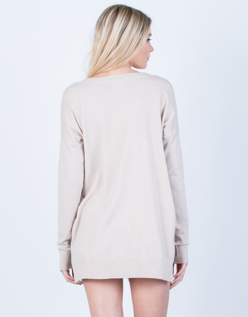 Back View of Super Soft Sweater