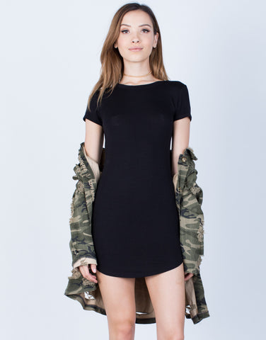 Front View of Super Soft Tee Dress
