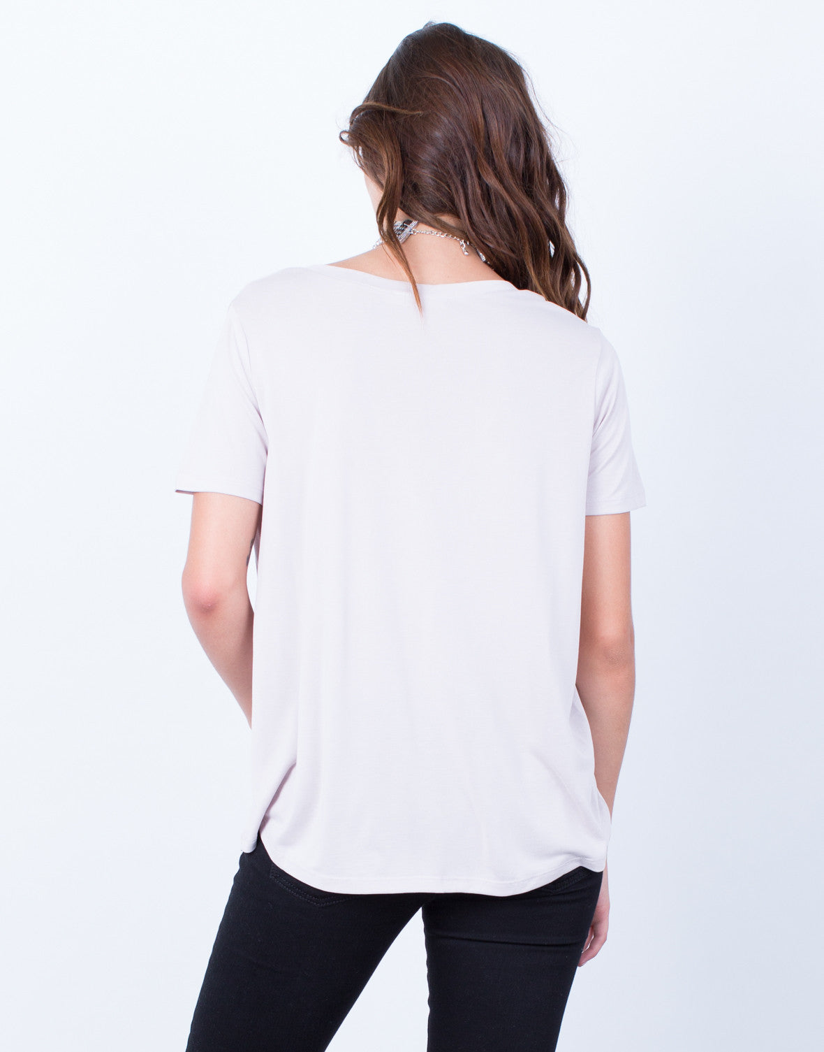 Back View of Super Soft-Tee