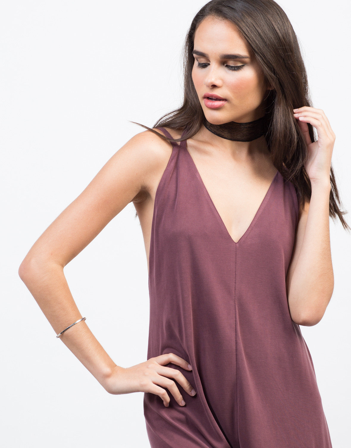 Detail of Super Soft V-Neck Romper