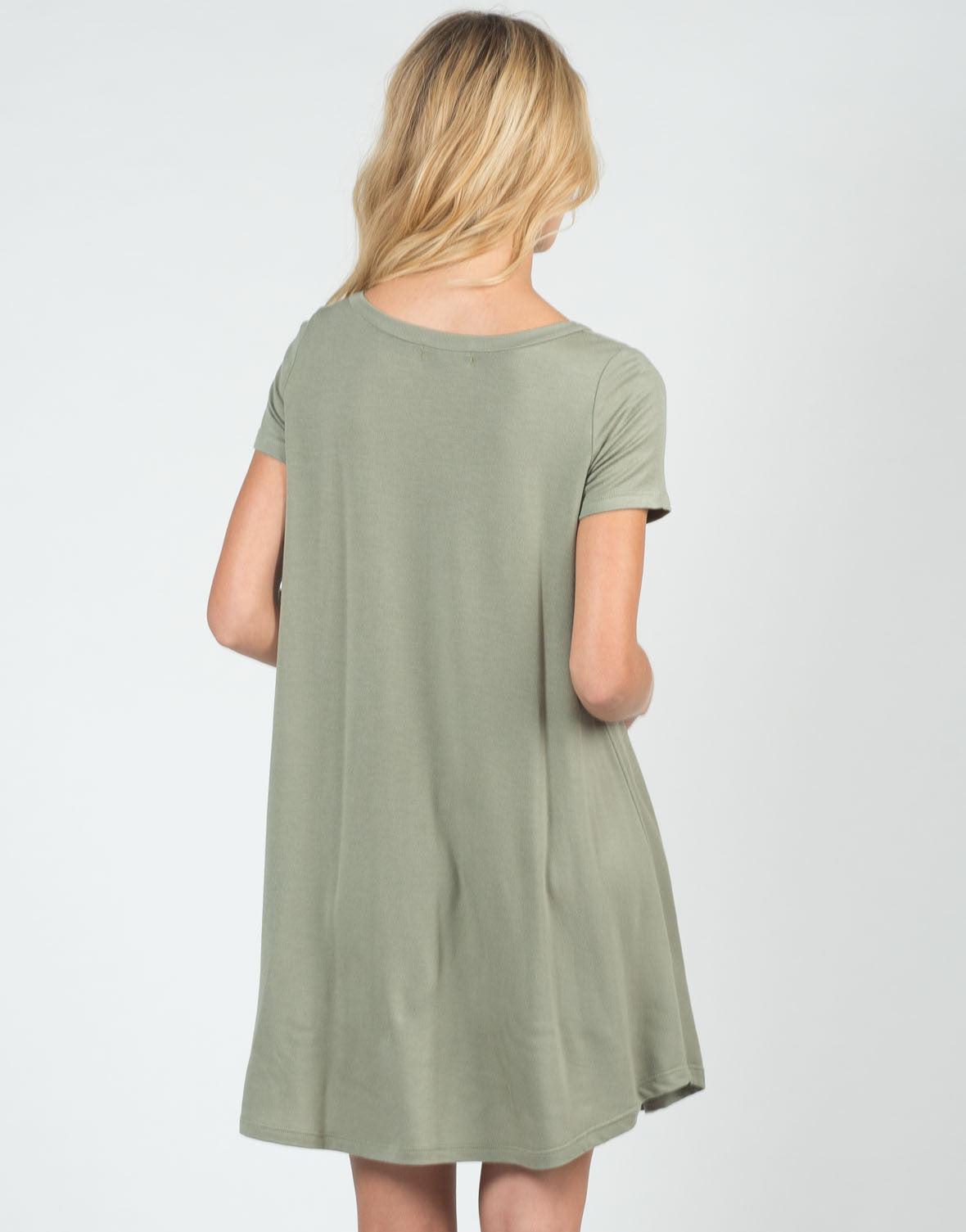 Back View of Super Soft and Flowy Dress