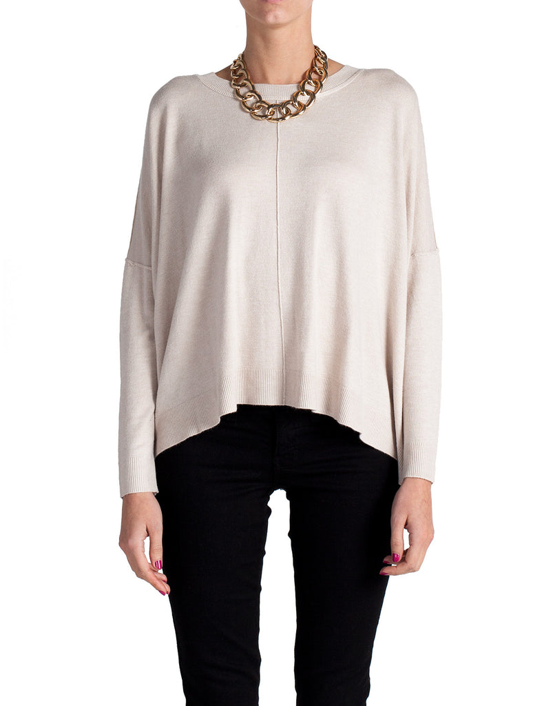Supersoft Box Long Sleeve Top - Cream - 2020AVE
