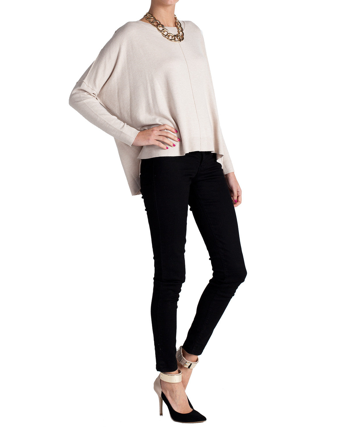Supersoft Box Long Sleeve Top - Cream