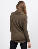 Back View of Super Soft Cowl Neck Top